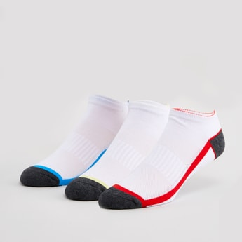 Set of 3 - Printed Ankle Length Socks with Ribbed Hem