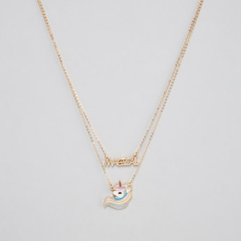 Unicorn Necklace with Lobster Clasp