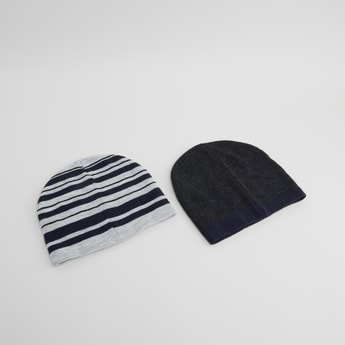 Set of 2 - Assorted Beanie Caps