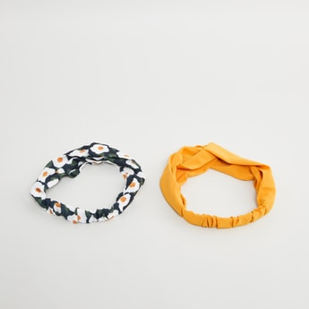 Set of 2 - Assorted Hair Band with Knot Detail
