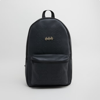 Batman Textured Backpack with Zip Closure