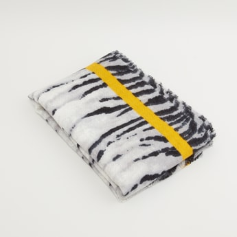 Animal Print Scraf with Tape Detail
