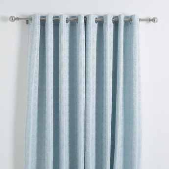 Textured 2-Piece Curtain Set - 240x140 cms