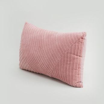 Textured Rectangular Filled Cushion - 50x30 cms