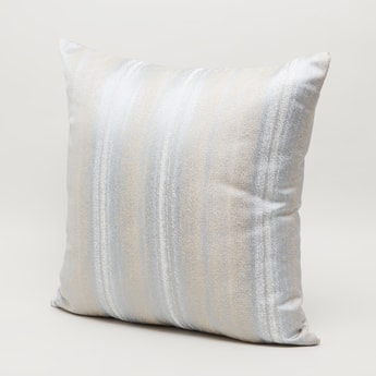 Textured Square Shaped Filled Cushion