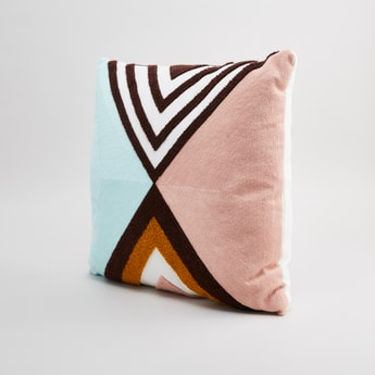 Plush Square Filled Cushion - 45x45 cms