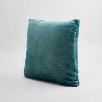 Textured Square Filled Cushion - 45x45 cms
