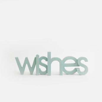 'Wishes' Decor Accent Piece