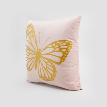 Butterfly Print Filled Cushion - 45x45 cms