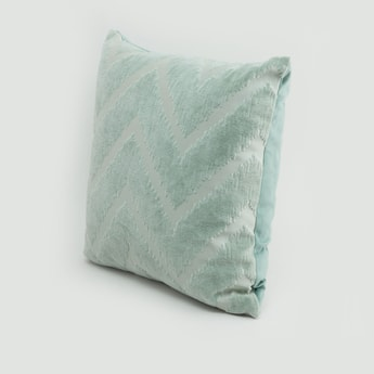 Chevron Printed Filled Cushion - 45x45 cms