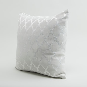Textured Square Filled Cushion with Zip Closure - 43x43 cms