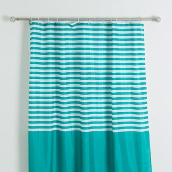 Striped Shower Curtain with Eyelets - 180x180 cms