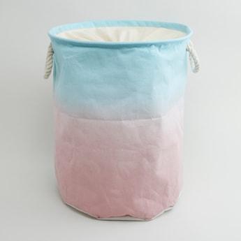سلة غسيل مزدوجة اللون بمقابض - 49x38 سم