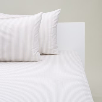 3-Piece Striped Fitted Sheet and Pillowcase Set - 200x180 cms