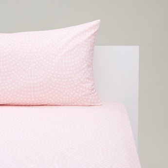 Printed Fitted Sheet with Pillowcase - 200x90 cms