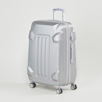Patterned Hard Case Luggage with Retractable Handle - 47x30x70 cms