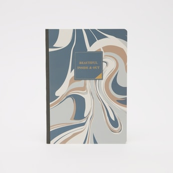 Abstract Print Ruled Notebook