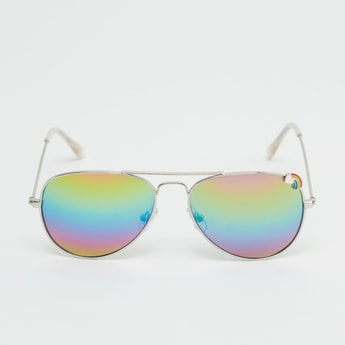 Full Rim Mirrored Sunglasses with Nose Pads