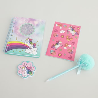 Printed 4-Piece Stationery Set