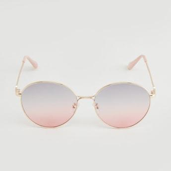 Tinted Round Metal Sunglasses