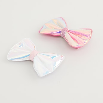 Set of 2 - Bow Applique Detail Hairpins