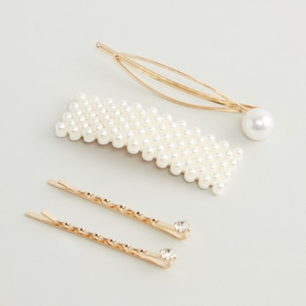Set of 4 - Studded Hair Clips