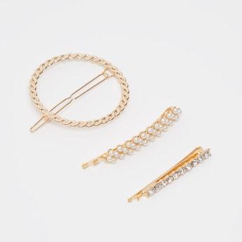 Set of 3 - Embellished Hairpins