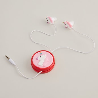 Unicorn Shaped Earphones with Wire Protector