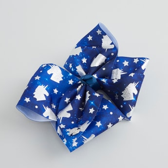Printed Bow Detail Hair Clip