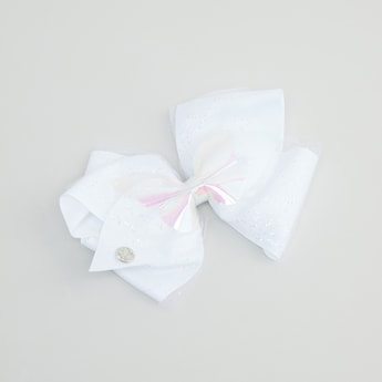 Embellished Bow Accented Hair Clip