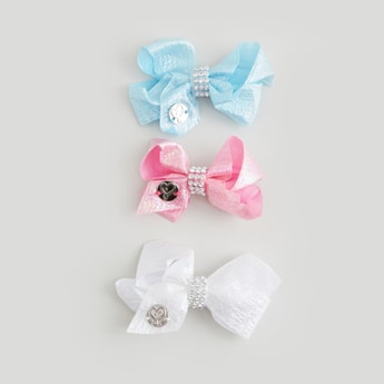 Set of 3 - Bow Detail Hairpins with Embellishments