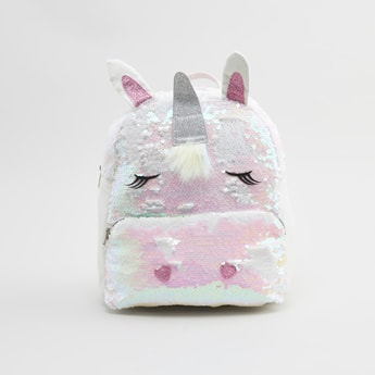 Sequin Detail Unicorn Backpack with Adjustable Straps