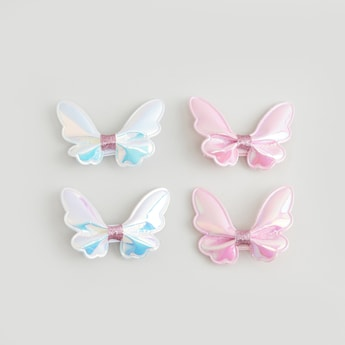 Set of 4 - Bow Detail Hairpins