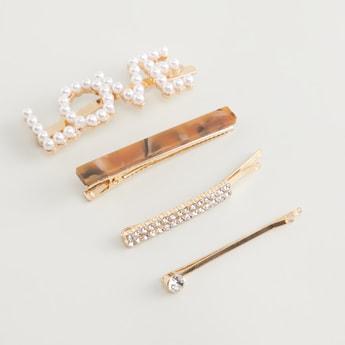 4-Piece Embellished Hair Pin Set
