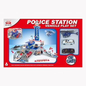 Police Station Vehicle Play Set