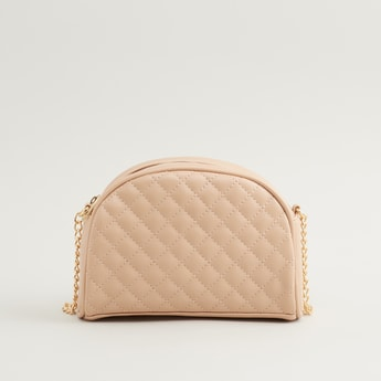 Quilted Crossbody Bag with Chain Strap