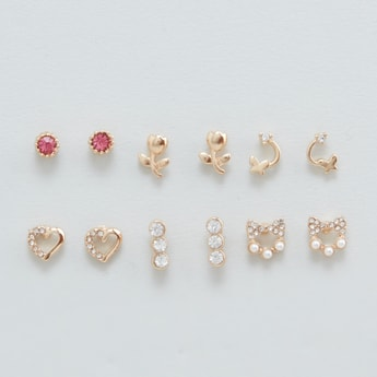 Set of 6 - Assorted Stud Earrings
