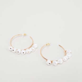 Bead Embellished Hoops