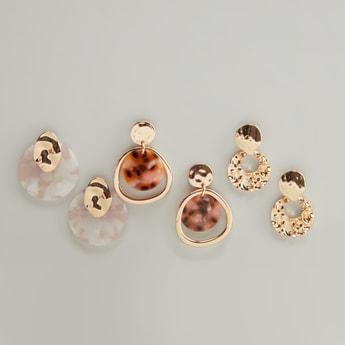 Set of 3 - Printed Earrings