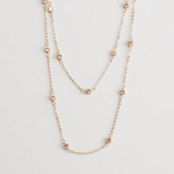 2-Layer Embellished Necklace