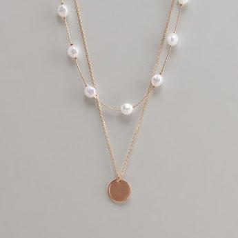 Set of 2 - Embellished Necklace