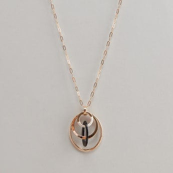 Embellished Pendant Necklace with Lobster Clasp