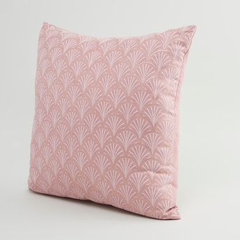 Scallop Print Filled Cushion - 45x45 cms