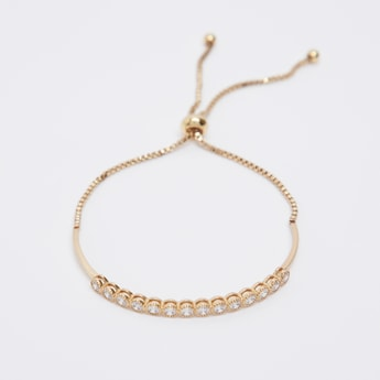 Studded Bracelet with Drawstring Closure