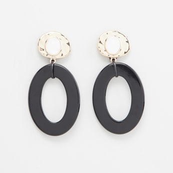 Oval Danglers with Push Back Closure