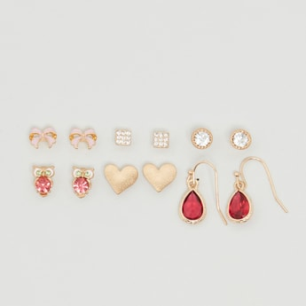 Set of 6 - Assorted Embellished Earrings
