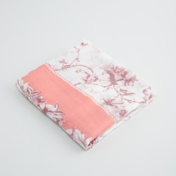 Printed Scarf with Fringe Detail