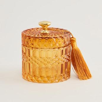 Decorative Jar with Lid - 9x10.5 cms