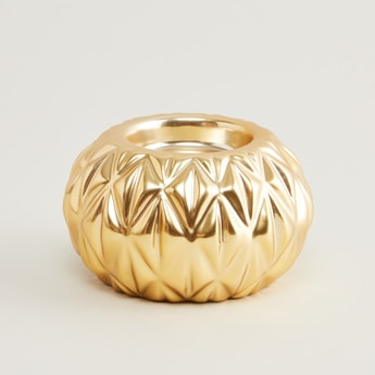 Metallic Votive Candle Holder - 9.5x9.5x5.6 cms