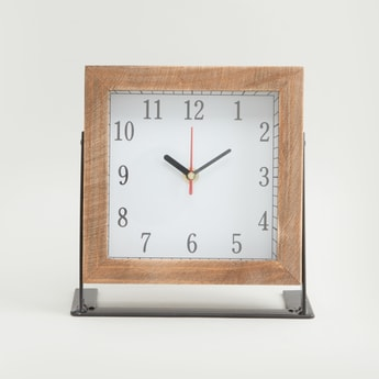 Square Shaped Battery Operated Table Clock